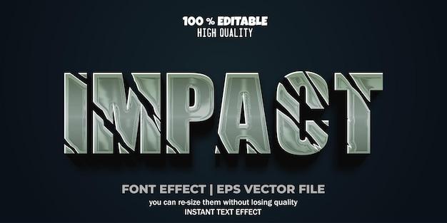 Style d'impact d'effet de texte modifiable