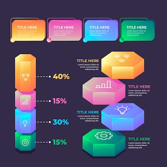 Style d'infographie brillant 3d
