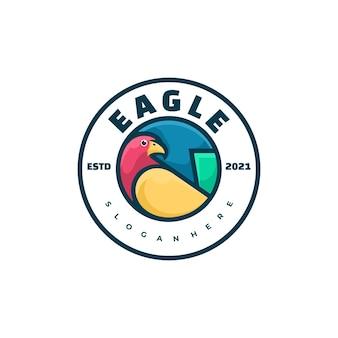 Style d'insigne d'aigle de logo.