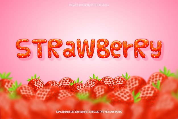 Style instantané effet texte fraise
