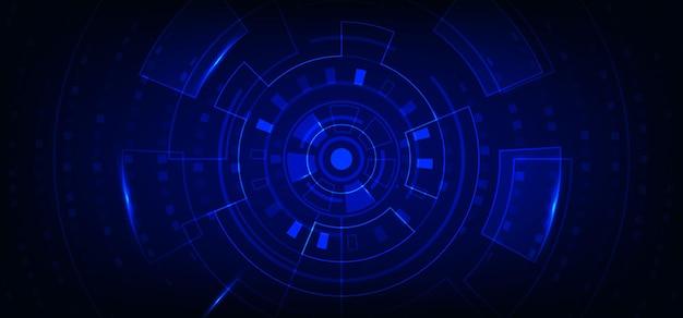 Style d'interface de technologie large abstraite du modèle d'élément géométrique. chevauchement avec fond de conception carrée.