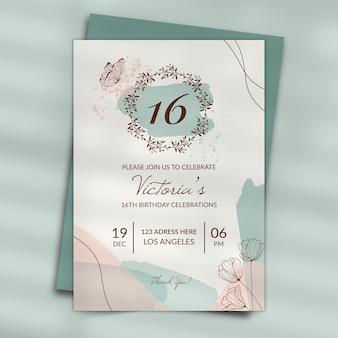 Style d'invitation d'anniversaire