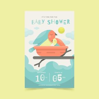 Style d'invitation de douche de bébé