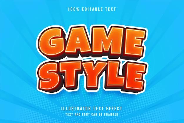 Style de jeu, effet de texte modifiable en 3d.