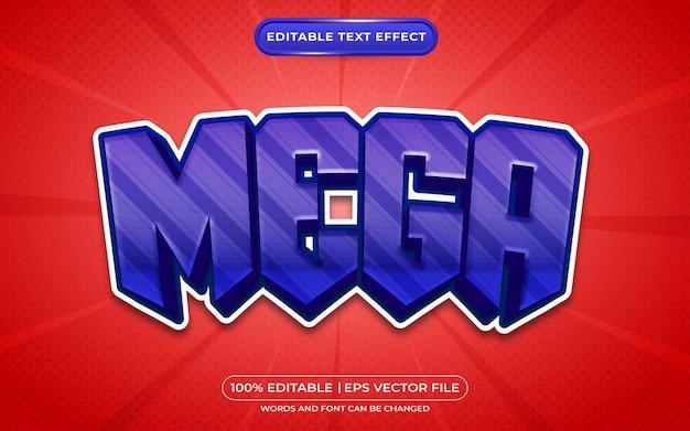 Style de jeu à effet de texte modifiable mega 3d