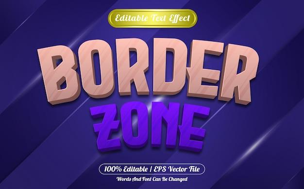 Style de jeu d'effet de texte modifiable de zone de frontière