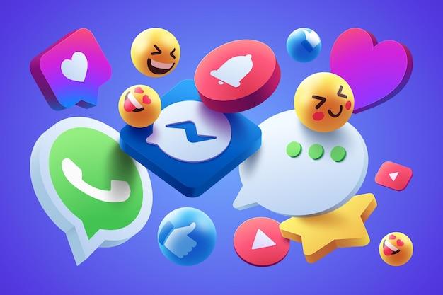 Style de jeu d'icônes colorées