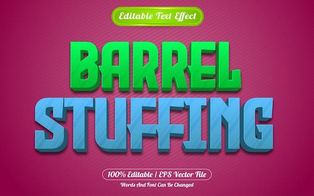 Style de jeux d'effet de texte modifiable de bourrage de baril