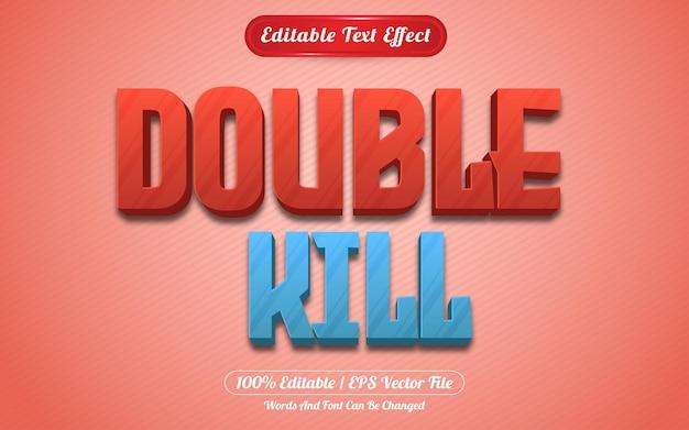 Style de jeux à effet de texte modifiable à double kill