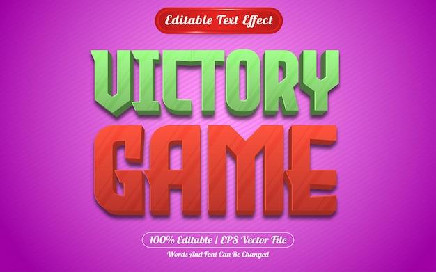 Style de jeux à effet de texte modifiable du jeu de la victoire