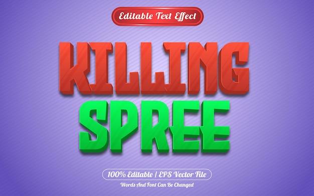 Style de jeux à effet de texte modifiable killing spree