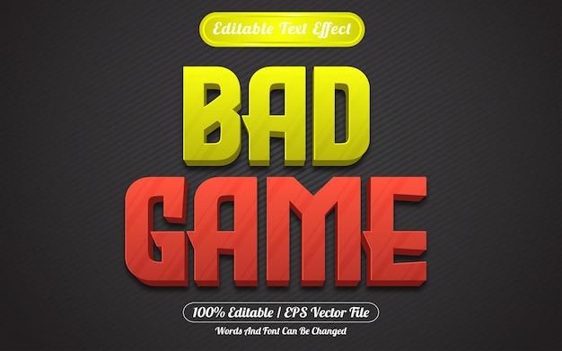 Style de jeux d'effet de texte modifiable de mauvais jeu