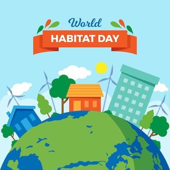 Style de la journée mondiale de l'habitat