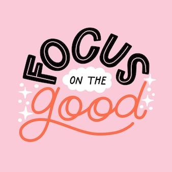 Style de lettrage d'esprit positif