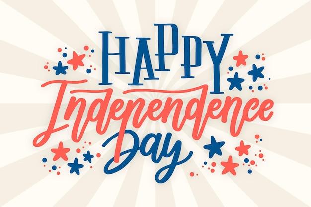 Style de lettrage de la fête de l'indépendance