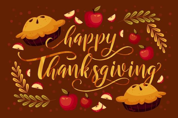 Style de lettrage joyeux thanksgiving