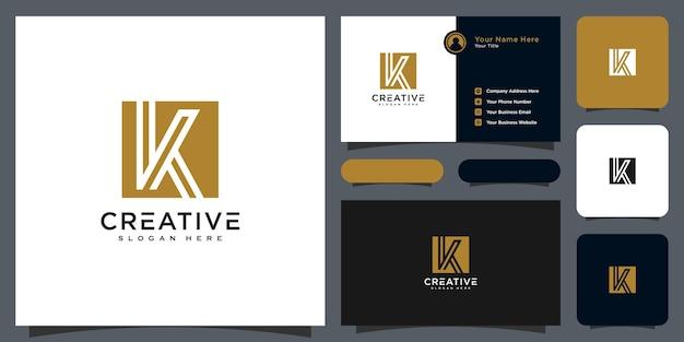 Style de ligne de conception de vecteur lettre initiale k logo