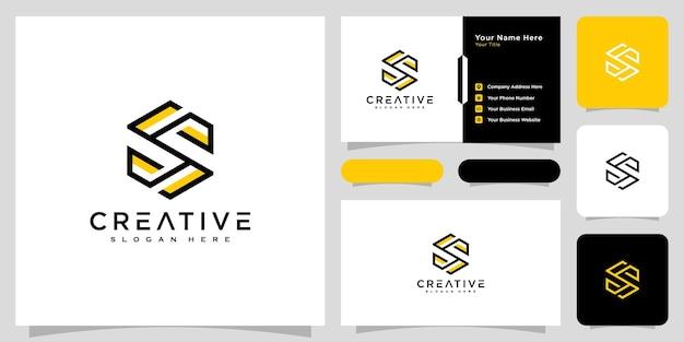 Style de ligne initiales lettre s logo design vectoriel