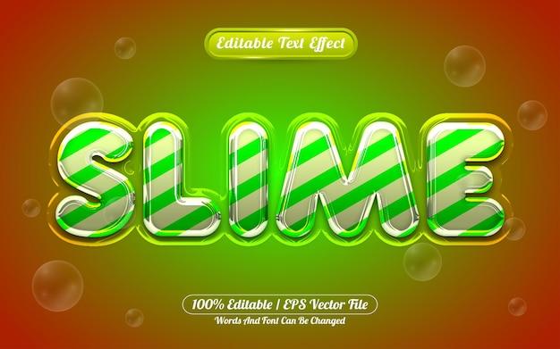 Style liquide d'effet de texte modifiable slime 3d
