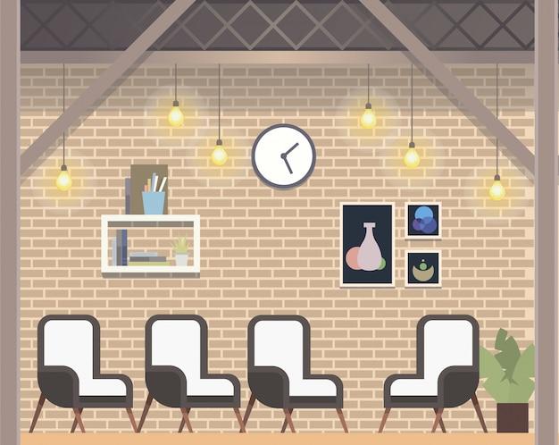 Style loft d'espace de travail de coworking créatif moderne