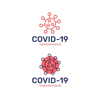 Style de logo de coronavirus