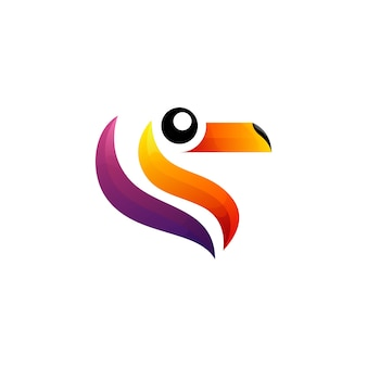 Style de logo d'oiseau