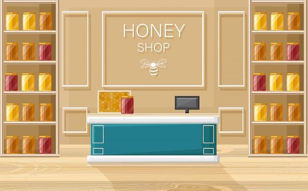 Style de magasin de miel