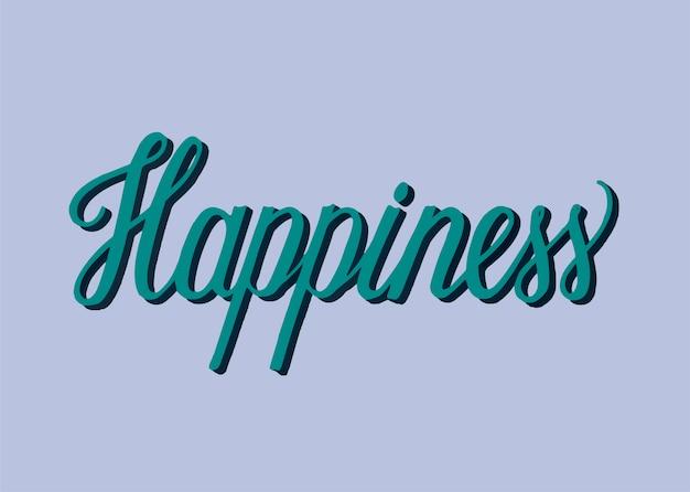 Style manuscrit de typographie de bonheur