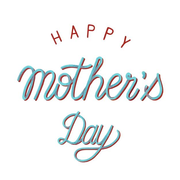 Style manuscrit de la typographie de la fête des mères heureux
