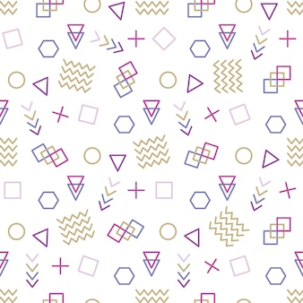 Style memphis avec illustration vectorielle motif géométrique avec des figures géométriques