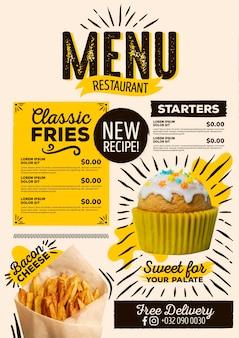 Style de menu de restaurant numérique