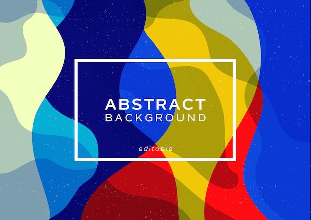 Style minimaliste abstrait dynamique. conception de la vague