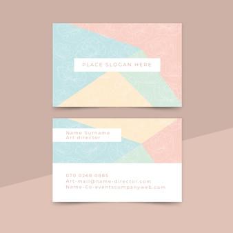 Style minimaliste de carte de visite