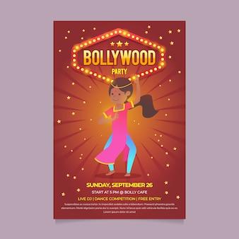 Style de modèle d'affiche de fête de bollywood