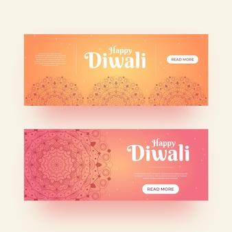 Style de modèle de bannières diwali