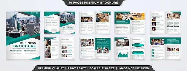 Style de modèle de brochure à deux volets entreprise minimaliste