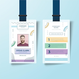 Style de modèle de cartes d'identité minimaliste