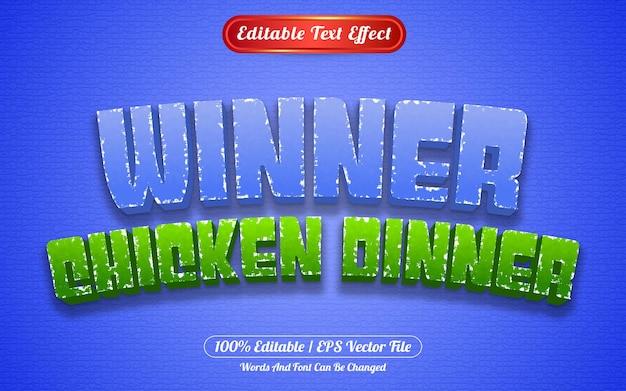 Style de modèle de dîner de poulet à effet de texte modifiable