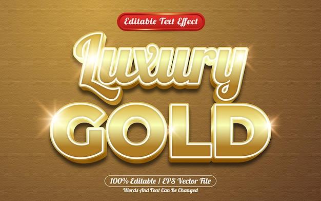 Style de modèle d'effet de texte modifiable de brillance d'or de luxe