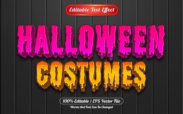 Style de modèle d'effet de texte modifiable de costumes d'halloween