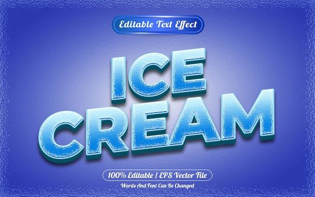 Style de modèle d'effet de texte modifiable de crème glacée
