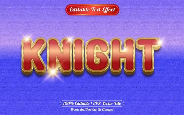 Style de modèle d'effet de texte modifiable knight