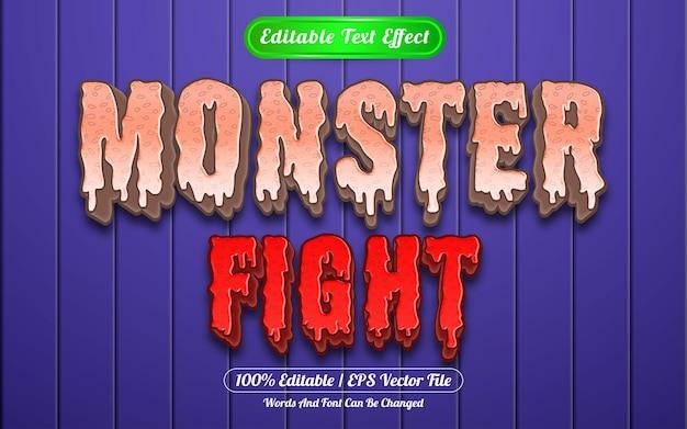 Style de modèle d'effet de texte modifiable monster fight