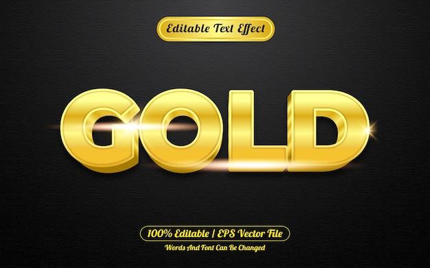 Style de modèle d'effet de texte modifiable en or