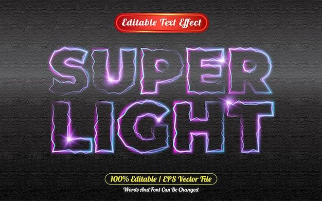 Style de modèle d'effet de texte modifiable super léger