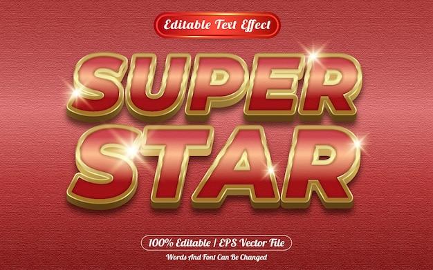 Style de modèle d'effet de texte modifiable super star