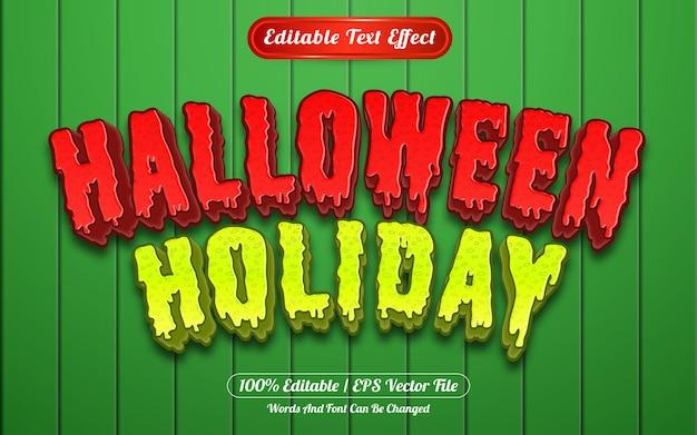Style de modèle d'effet de texte modifiable de vacances d'halloween