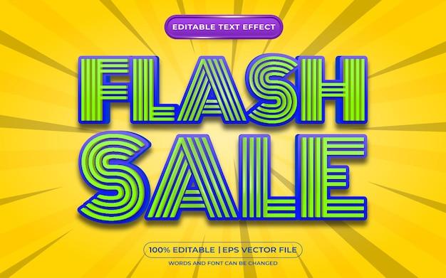 Style de modèle d'effet de texte modifiable de vente flash