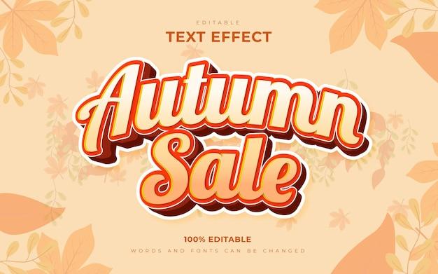 Style de modèle d'effets de texte modifiable des saisons de vente d'automne