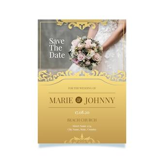 Style de modèle d'invitation de mariage